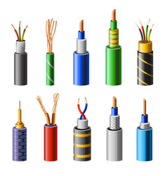 Electrical copper cable set with varieties of vector