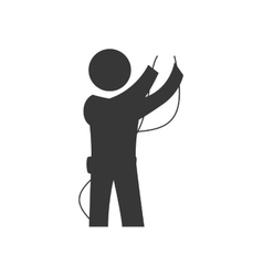 Electrician icon Repair and electrical design vector
