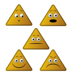 emoticon triangle vector image