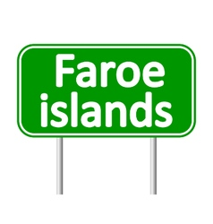 Faroe islands road sign vector