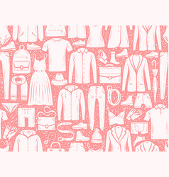 fashion seamless background pattern clothes vector image