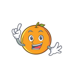 Finger orange fruit cartoon character vector