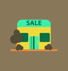Flat icon of shop sale vector