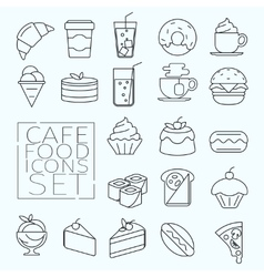 Food icons line vector