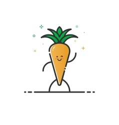 funny carrot character vector image
