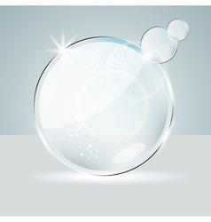 Glass Speech Bubbles vector image