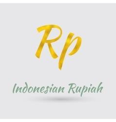 Golden Rupiah Symbol vector image