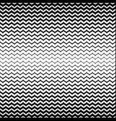 Halftone seamless pattern black white zig zag vector