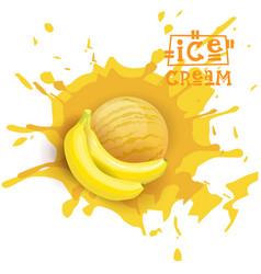 Ice cream banana ball fruit dessert choose your vector