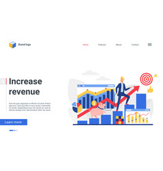 increase revenue investment concept landing page vector image