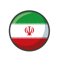 Isolated iran flag icon block design vector