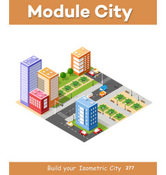 isometric 3d city landscape vector image