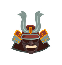 japanese samurai warrior mask vector image