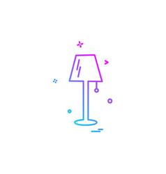 lamp icon design vector image