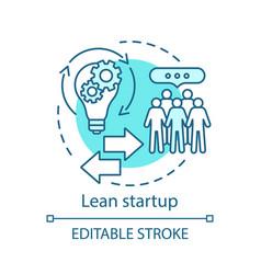 Lean startup concept icon vector