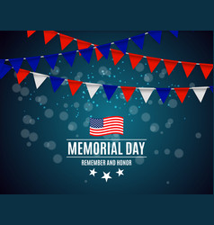 memorial day in usa background template vector image