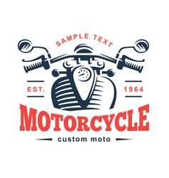 Motorcycle logo vintage emblem vector