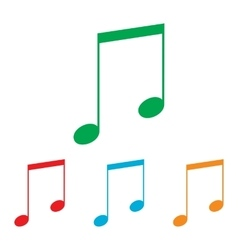 Music sign Colorfull set vector image