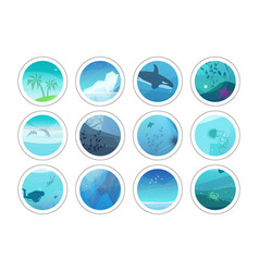 Nature painting circles vector