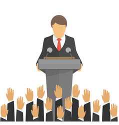 orator speaking from tribune vector image