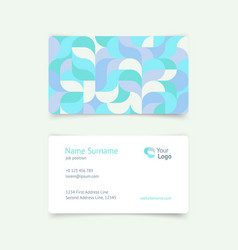 pattern creative vintage business card vector image