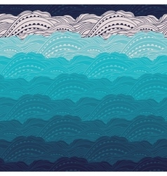 Pattern Sea Waves Big vector image