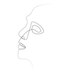 Person one line vector
