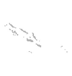 Pixel map of solomon islands dotted map of vector