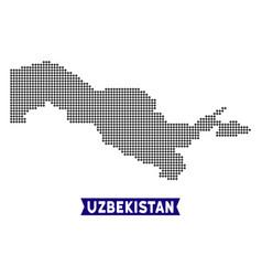 Pixelated uzbekistan map vector