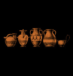 Pottery ancient greece vector