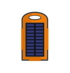 power battery icon flat style vector image
