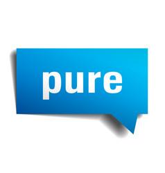 Pure blue 3d speech bubble vector