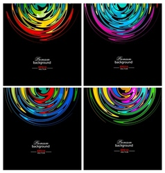 Rainbow circle technology backgrounds vector