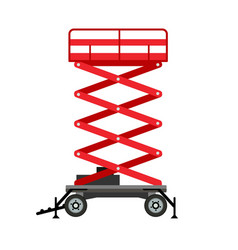 red lift stand icon flat style vector image