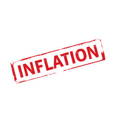 Red stamp and inflation vector