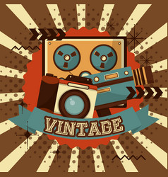 retro vintage devices vector image