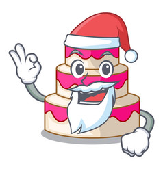 Santa wedding cake isolated with the mascot vector