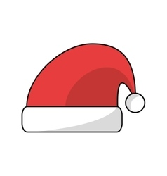 Santas hat of Christmas season design vector