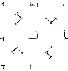 Scooter pattern seamless black vector