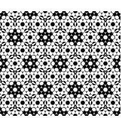 Seamless pattern hexagonal elements vector