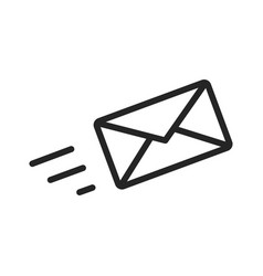 send message icon vector image
