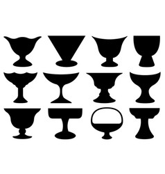 set different bowls vector image