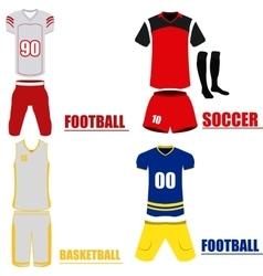 Set of sport uniforms vector