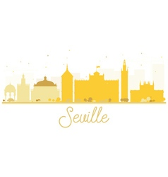 Seville City skyline golden silhouette vector image