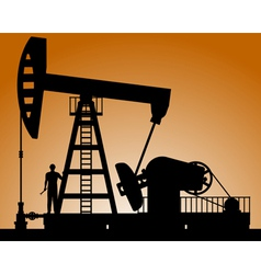 Silhouette of oil pump vector
