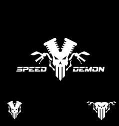 speed demon symbol vector image