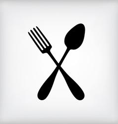 Spoon gray vector