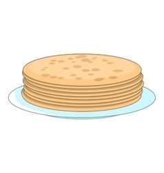 Stack of pancakes icon cartoon style vector