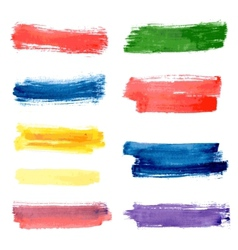 Stripes watercolor vector