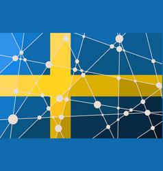 Sweden flag concept vector